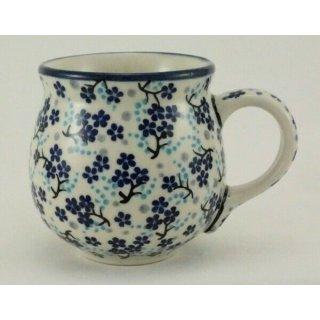 Bunzlauer Keramik Tasse BÖHMISCH, Becher, S I G N I E R T, 0,25 Ltr, (K090-AS45