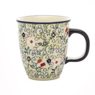 Bunzlauer Keramik Tasse MARS - Becher - 0,3Ltr., Blumen (K081-EO36) U N I K A T